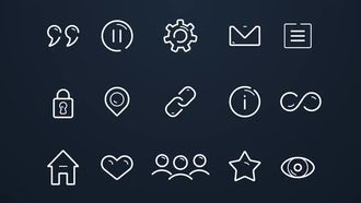 50 Line Icons: After Effects Templates