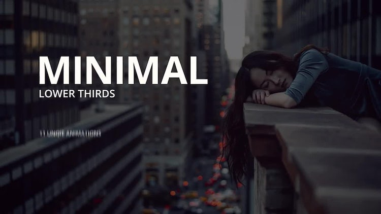 Minimal Lower Thirds: After Effects Templates