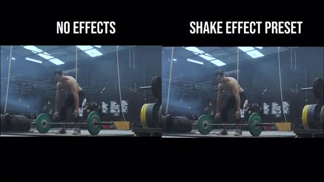 Shake Effect Presets: Premiere Pro Presets