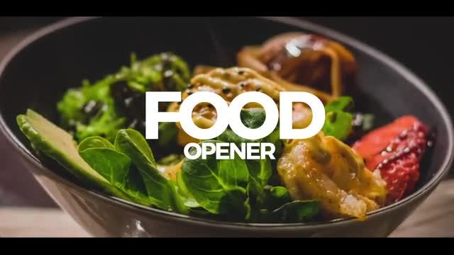Food Opener: After Effects Templates