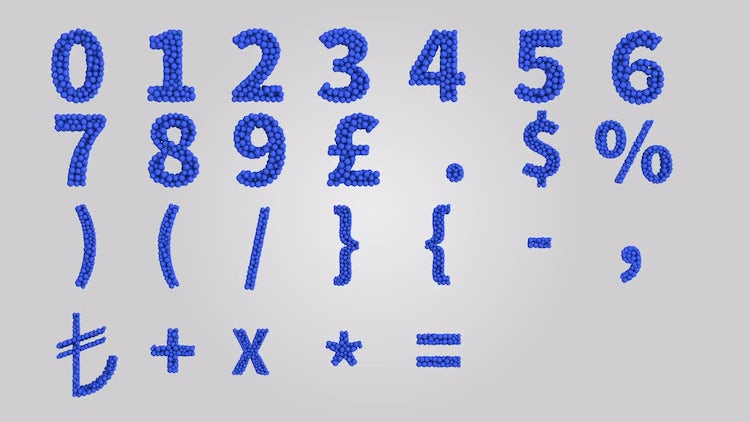 Animated Numbers: Stock Motion Graphics