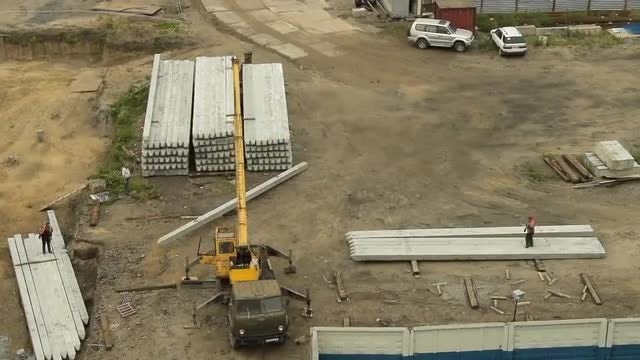 Crane On Construction Site: Stock Video