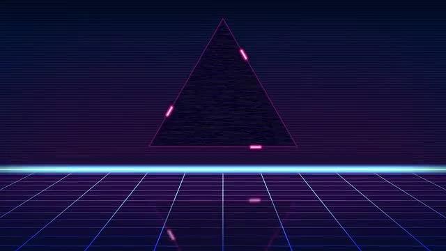 80's Retro Background: Stock Motion Graphics