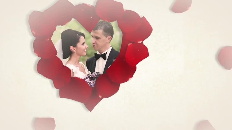Wedding Slideshow With Roses: Premiere Pro Templates
