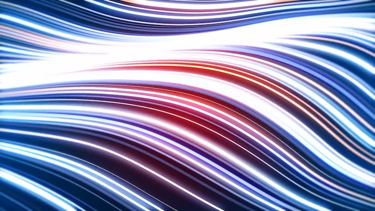 Energy Glowing Waves: Motion Graphics