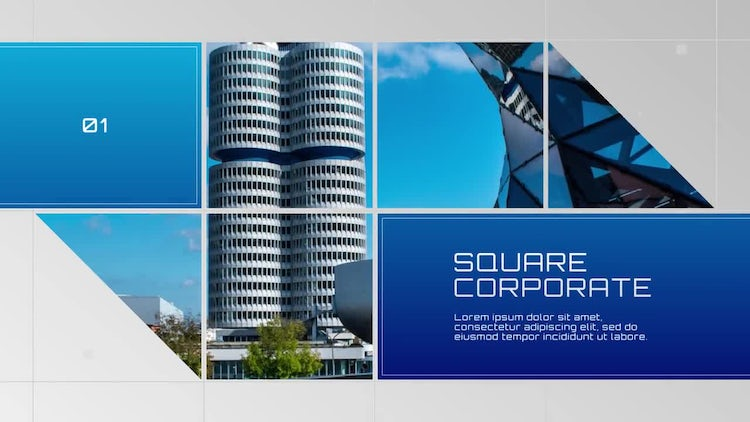 Modern Square - Corporate: After Effects Templates