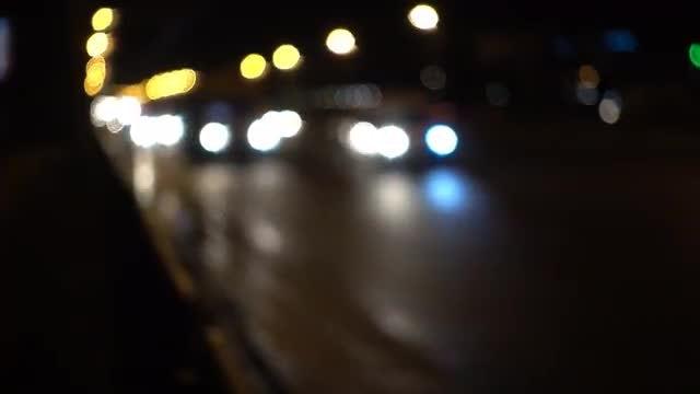 Cars Traffic Bokeh Background: Stock Video