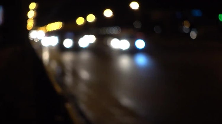 Cars Traffic Bokeh Background: Stock Video