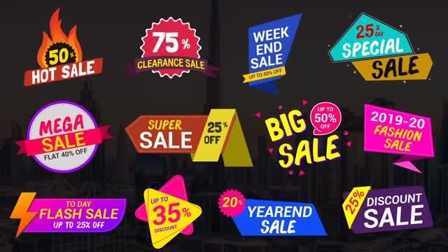 Sale Lables & Badges_5: After Effects Templates