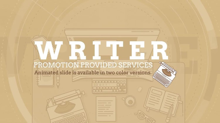 Writer Promo: After Effects Templates
