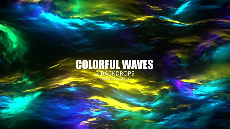 Colorful Waves: Stock Motion Graphics