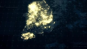 Pack of South Korea Maps: Motion Graphics