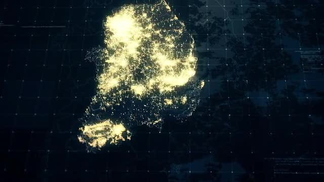 Pack of South Korea Maps: Stock Motion Graphics