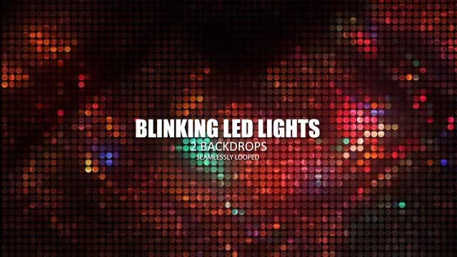 Blinking LED Lights: Stock Motion Graphics