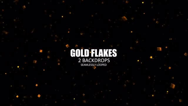 Gold Flakes: Stock Motion Graphics