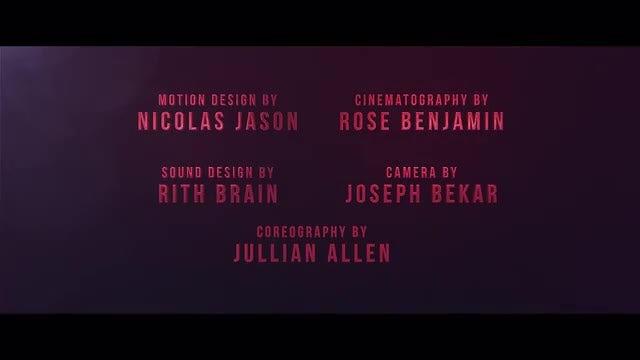Cine Credit V.2: After Effects Templates