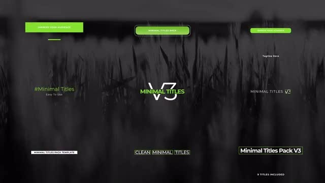 Minimal Titles Pack V3: After Effects Templates