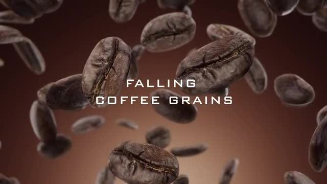 Falling Coffee Grains Pack: Stock Motion Graphics
