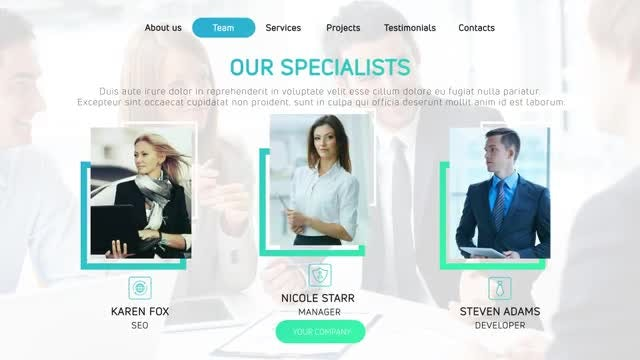 Company Presentation: After Effects Templates