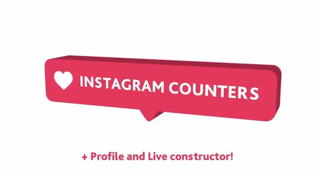 Instagram Counter Pack: After Effects Templates
