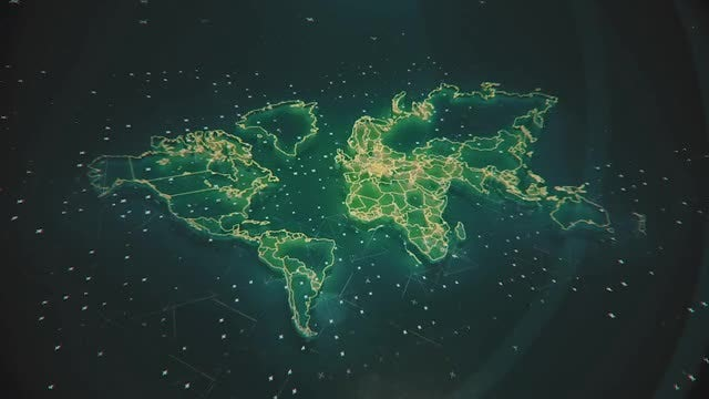 Futuristic Global Map: Stock Motion Graphics