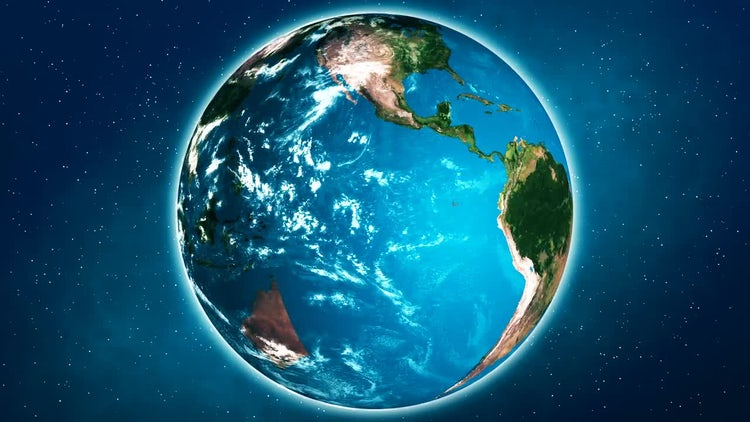 Realistic Planet Earth: Stock Motion Graphics