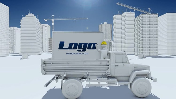 Construction Site Logo: After Effects Templates