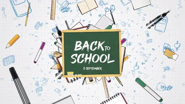 Back To School: After Effects Templates