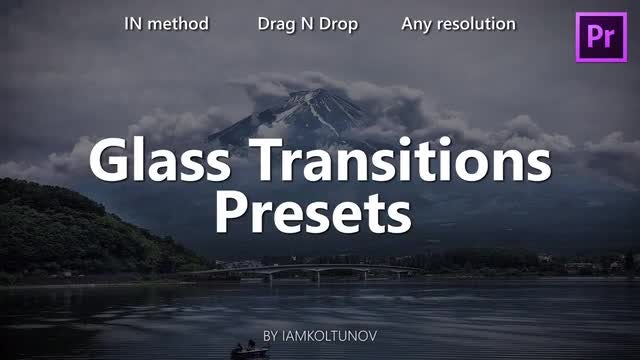 Glass Transitions Pack 9: Premiere Pro Presets