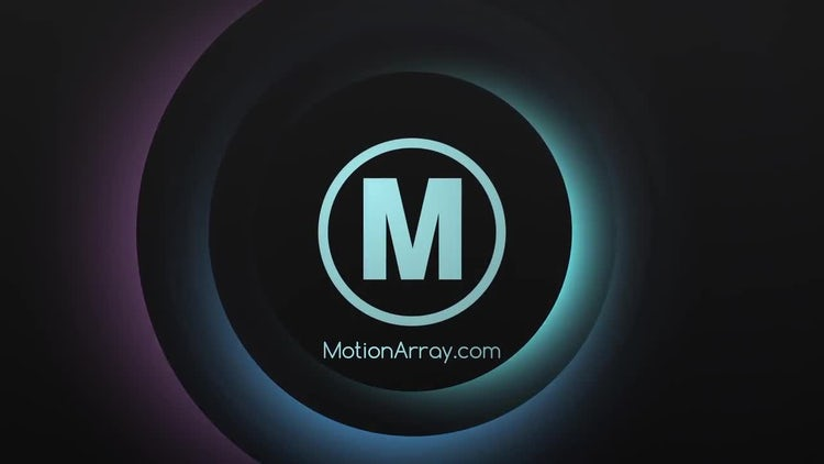 Glowing Circles Logo: Premiere Pro Templates