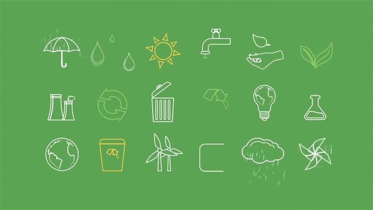 Ecology Concept Icons: After Effects Templates