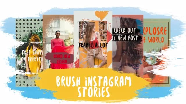 Brush Instagram Stories: Motion Graphics Templates