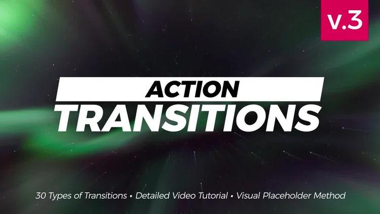 Action Transitions: Premiere Pro Templates
