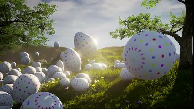 Happy Easter: Stock Motion Graphics