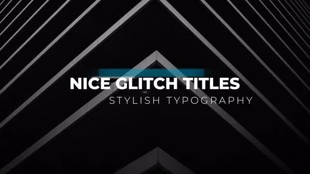Glitch Titles 4k: After Effects Templates