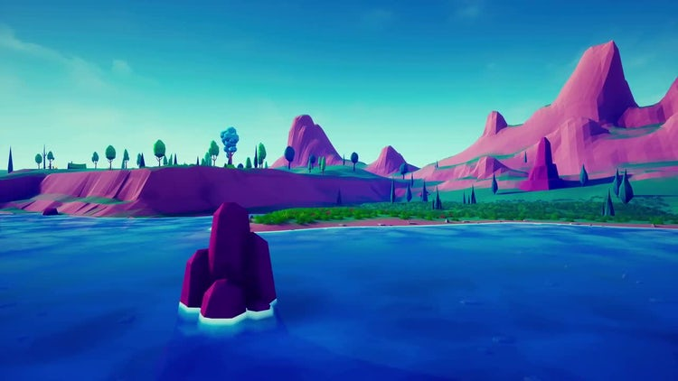 Lowpoly Land: Motion Graphics