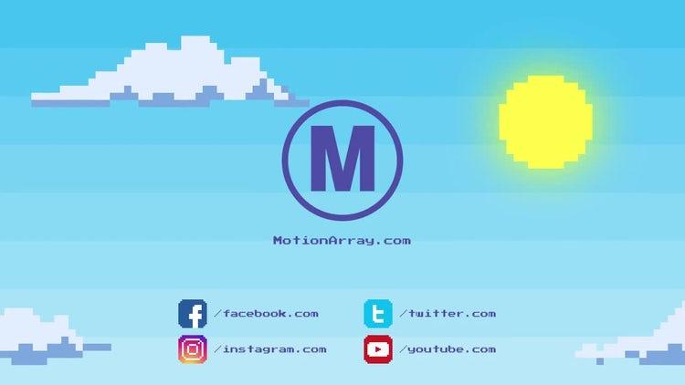 8 bit Logo: Premiere Pro Templates