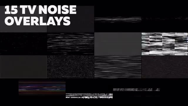 15 TV Noise Backgrounds: Stock Motion Graphics