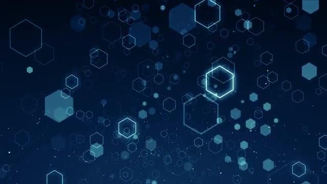 Hexagons Background Loop: Stock Motion Graphics