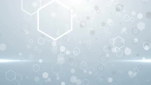 White Hexagonal Particles: Stock Motion Graphics
