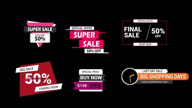 Sales Badges: Motion Graphics Templates