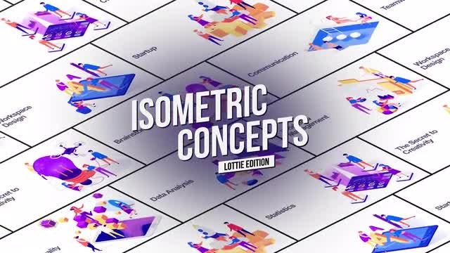 Isometric Concept - Lottie Edition: After Effects Templates