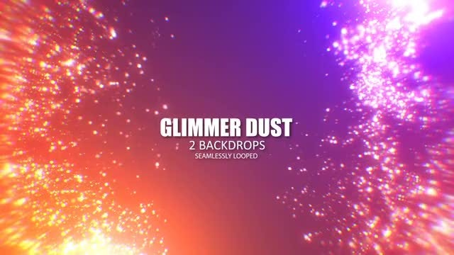 Glimmering Dust: Stock Motion Graphics