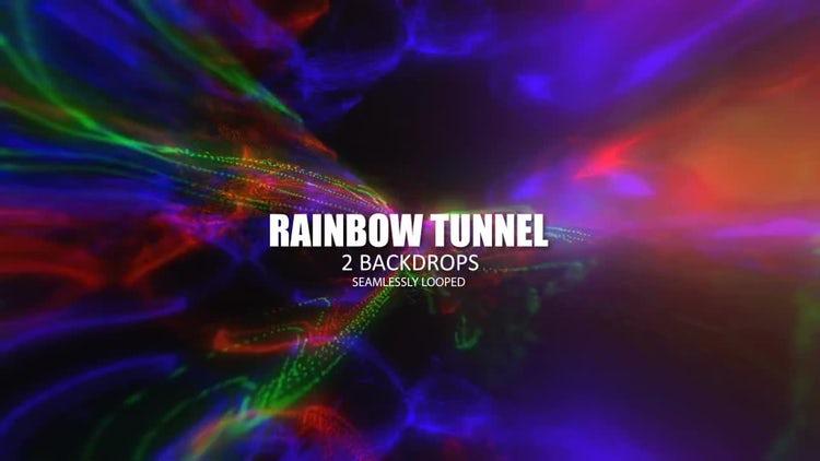 Rainbow Lights Loop: Stock Motion Graphics