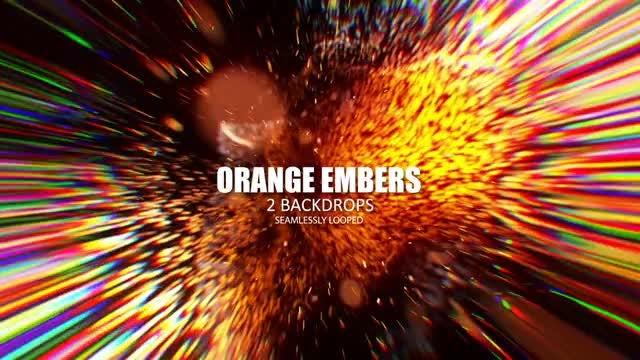 Orange Embers: Stock Motion Graphics
