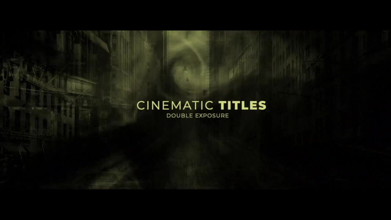Double Exposure - Opening Titles - Final Cut Pro Templates