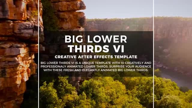Big Lower Thirds VI: Motion Graphics Templates