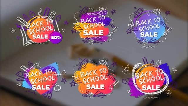 Colorful Back To School Titles: After Effects Templates