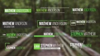 50 Modern Lower Thirds: After Effects Templates