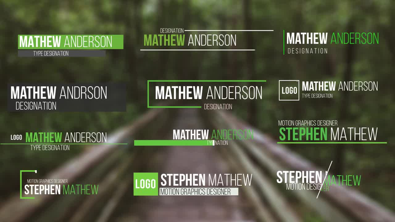 50 Modern Lower Thirds After Effects Templates Motion